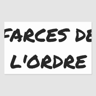 Sticker Rectangulaire J'aime les FARCES de l'ordre - Jeux de Mots