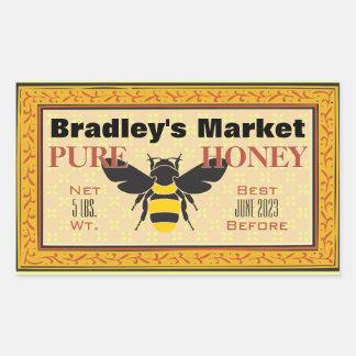 Sticker Rectangulaire Jaune et noir gaffez l'abeille customisée