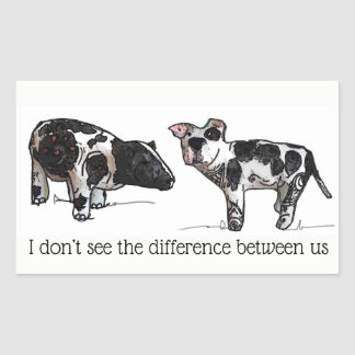 Sticker Rectangulaire Je ne vois pas la différence entre nous