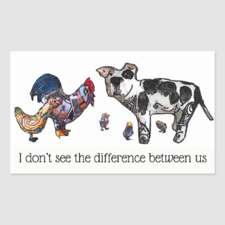 Sticker Rectangulaire Je ne vois toujours pas la différence entre nous