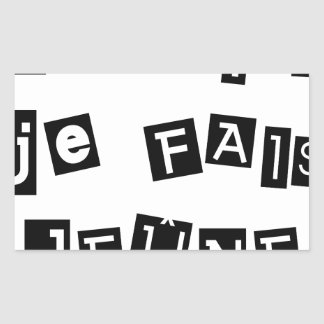 Sticker Rectangulaire Je sais, je FAIS JEÛNE - Jeux de Mots