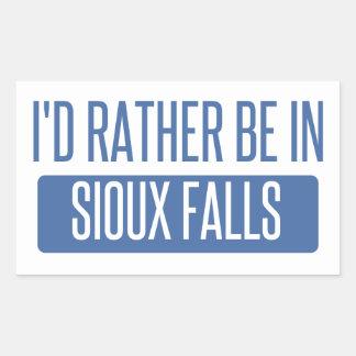 Sticker Rectangulaire Je serais plutôt en Sioux Falls