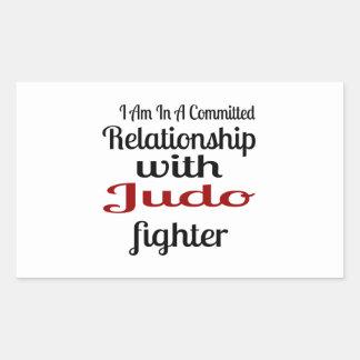 Sticker Rectangulaire Je suis dans un rapport commis avec le combattant