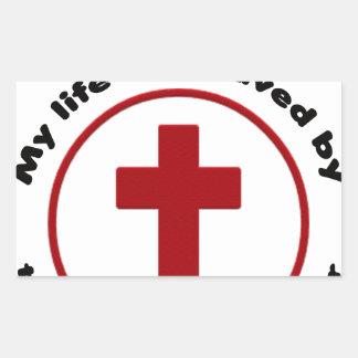 Sticker Rectangulaire Jésus économise, T-shirt chrétien de cadeau de
