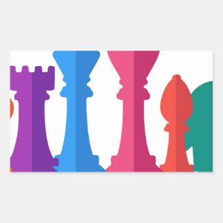 Sticker Rectangulaire Jeu d'échecs