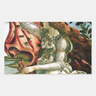 Sticker Rectangulaire jeune fille dans la blanchisserie de robe
