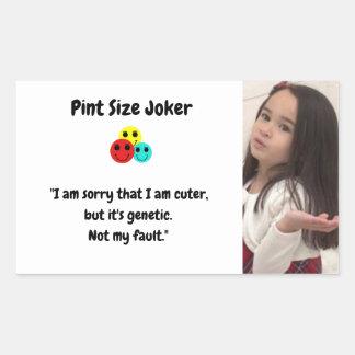 Sticker Rectangulaire Joker de taille de pinte : Gentillesse génétique