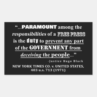 Sticker Rectangulaire Jurisprudence de citation de presse libre (1971)