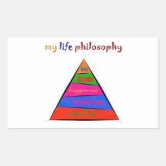 Sticker Rectangulaire Kephalonissa - ma philosophie de la vie