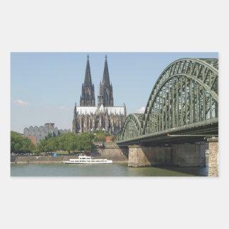 Sticker Rectangulaire Koeln (Cologne) en Allemagne