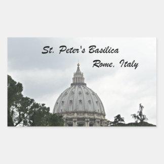 Sticker Rectangulaire La basilique de St Peter