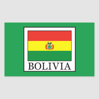 Sticker Rectangulaire La Bolivie