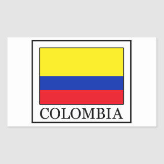 Sticker Rectangulaire La Colombie