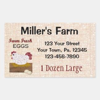 Sticker Rectangulaire La coutume Eggs l'autocollant