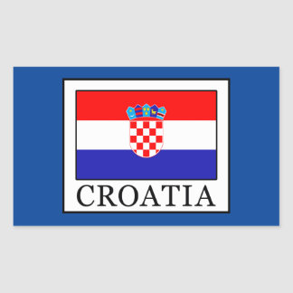 Sticker Rectangulaire La Croatie