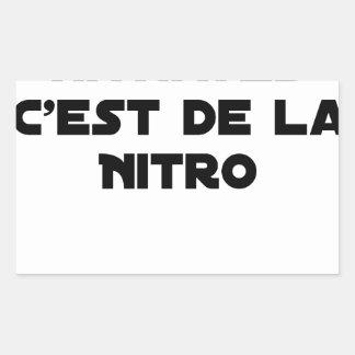 Sticker Rectangulaire La Directive Nitrates, c'est de la Nitro - Jeux de