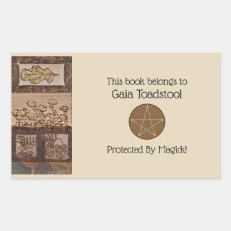 Sticker Rectangulaire La forêt prise le païen de Wiccan de sorcière de