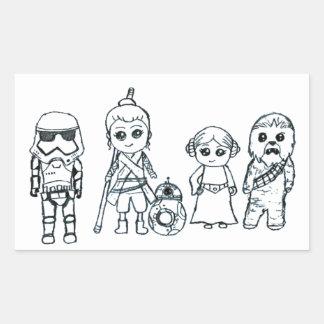 Sticker Rectangulaire La meilleure équipe de super héros de galaxie