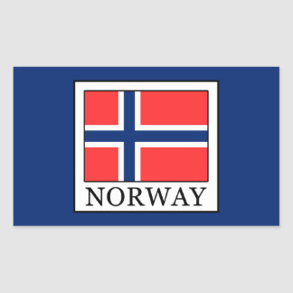 Sticker Rectangulaire La Norvège
