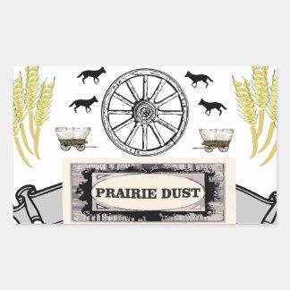 Sticker Rectangulaire la poussière de prairie sur la traînée