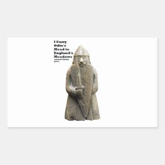 Sticker Rectangulaire La prière d'Odin (Viking Berserker)