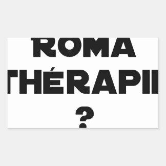 Sticker Rectangulaire LA ROMA THÉRAPIE ? - Jeux de mots - Francois Ville