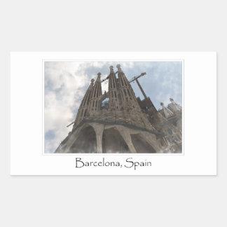 Sticker Rectangulaire La Sagrada Familia à Barcelone Espagne