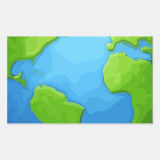 Sticker Rectangulaire la terre