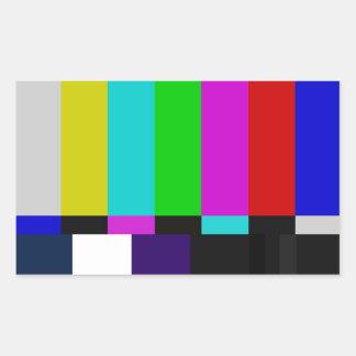 Sticker Rectangulaire La TV barre l'essai de couleur