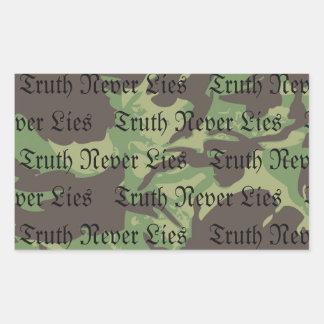 Sticker Rectangulaire La vérité d'OCA ne se trouve jamais