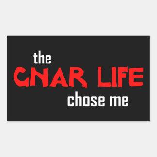 Sticker Rectangulaire La vie de Gnar