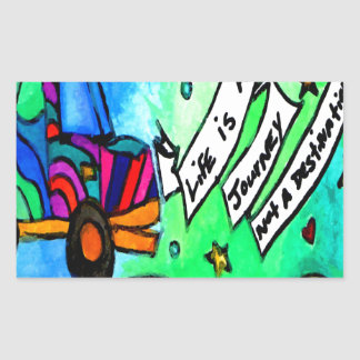 Sticker Rectangulaire La vie est un voyage pas une destination