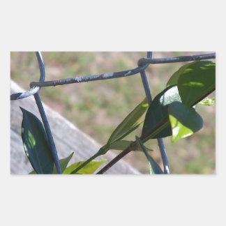 Sticker Rectangulaire la vigne une vie de barrière de maillon de chaîne