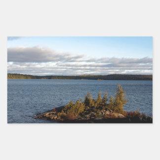 Sticker Rectangulaire Lac du nord ontario