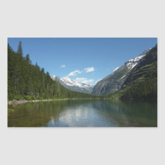 Sticker Rectangulaire Lac I avalanche en parc national de glacier