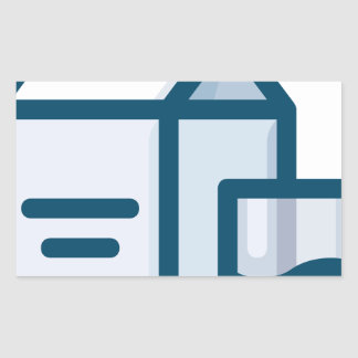 Sticker Rectangulaire Lait