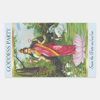 Sticker Rectangulaire Lakshmi