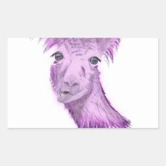 Sticker Rectangulaire Lama snob rosâtre