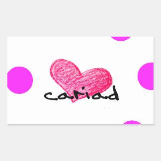 Sticker Rectangulaire Langue de Gallois de conception d'amour