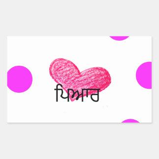 Sticker Rectangulaire Langue de Punjabi de conception d'amour