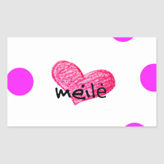 Sticker Rectangulaire Langue lithuanienne de conception d'amour