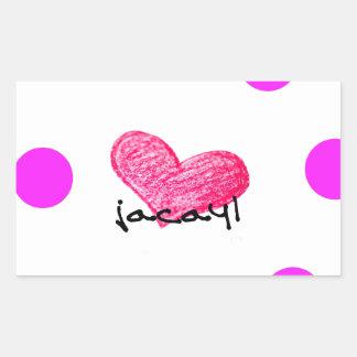 Sticker Rectangulaire Langue somalienne de conception d'amour