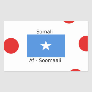 Sticker Rectangulaire Langue somalienne et conception de drapeau de la
