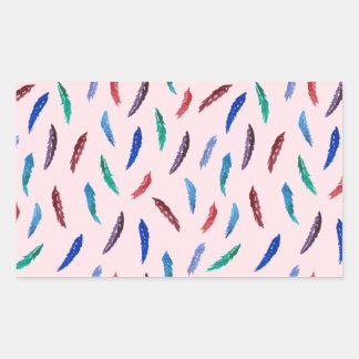Sticker Rectangulaire L'aquarelle fait varier le pas de l'autocollant