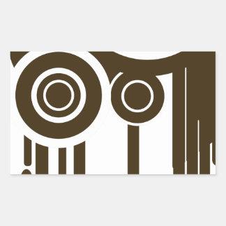 Sticker Rectangulaire Le cercle vise l'égoutture