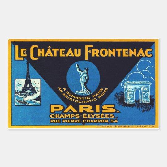 Sticker Rectangulaire Le Château Frontenac (Paris - France)