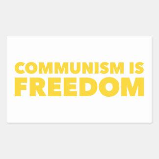 Sticker Rectangulaire Le communisme est liberté