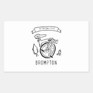 Sticker Rectangulaire Le cycliste fonctionnel - vélo se pliant Brompton