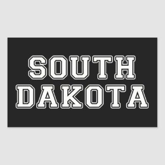 Sticker Rectangulaire Le Dakota du Sud