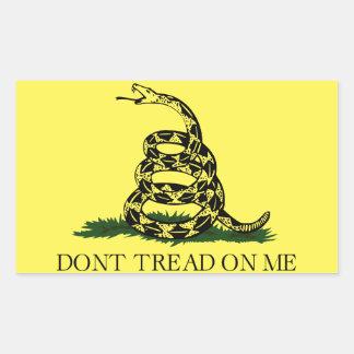 Sticker Rectangulaire Le drapeau de Gadsen, ne marchent pas sur moi,